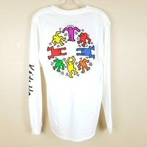 NEW KEITH HARING Graphic Long Sleeve T-Shirt Doodl